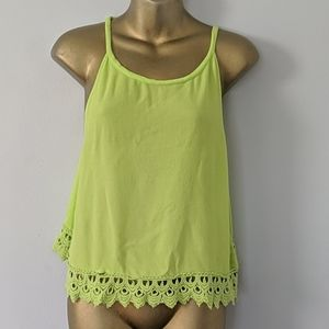 Sophie Rue neon green tank top size Large